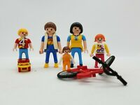 Playmobil American Family of 5 plus Skateboard and Bicycle