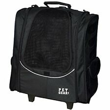 Pet Gear I-Go2 Escort Roller Backpack for cats and dogs, Black , New, Free Shipp