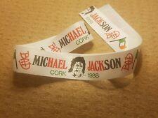 michael jackson vintage bad tour concert headband cork ireland 1988