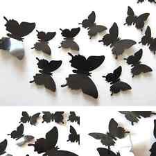 12PC Chic 3D Butterfly Wall Stickers Butterflies Docors Art DIY Decor Nice Paper