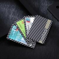 Carbon Fiber Magnetic Wallet Modular Slim Light Black Card Holder Series