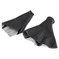 2x Black Gear Shift Stick Gaiter Boot Handbrake For Vauxhall Corsa Opel 2001-06