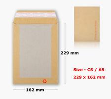 500 x C4 A4 Taille Forte blanc fenêtre Board les enveloppes renforcées avec dur Carte de Retour