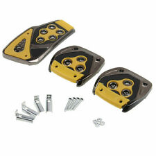 F998 Yellow Pedals Brake Clutch Footrest Pads Cover Manual Car Truck Universal