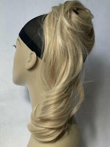 22222New UK Stock Synthetic Wavy Tip-&-Twist Ponytail Bun Hairpiece Scrunchies