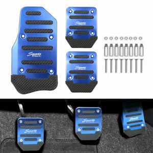 1 Set Durable Blue Universal Pedals Pad Cover Car Interior Decor Car Accessories