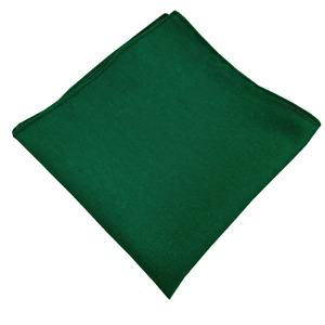 Handmade Emerald Green Pocket Squares Linen Blend Handkerchiefs Wedding Gift