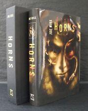 HORNS Joe Hill UK SIGNED LIMITED HB/DJ SLIPCASED DOODLED Vincent Chong