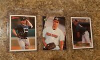(3) Andy Pettitte 1993 Bowman Classic Fleer Excel Rookie card lot RC Yankees
