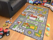 New Large Size Boys Girls Kids Kiddies Play Road Map Bedroom Rug Mat Rug Playmat