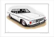 HOLDEN  HZ  SL/E  STATESMAN  SLE   LIMITED EDITION CAR PRINT AUTOMOTIVE ARTWORK