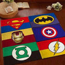 Marvel Superman Kids Floor Rug Rectangle Anti-Slip Home Bedroom Door Mat Carpet