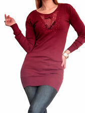 Ladies Red Cashmere Jumper Sweater Dress Size 10 12 14 16