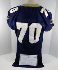 2010-12 Navy Midshipmen #70 Game Used Navy Jersey Dp01148