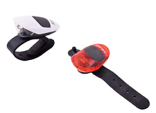 Smart LS043 LED Rubber Silicone Wrap Around Front & Rear Bike Scooter Lights Set