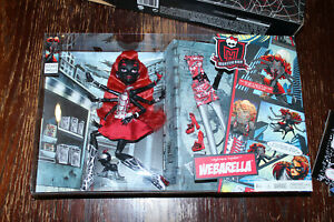 SDCC 2013 Monster High Webarella with diary & comic. Power Ghouls. Mattel. New!