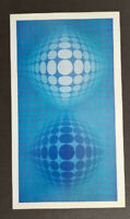 """Victor Vasarely """"Vega-Oltar"""" Mounted Offset Color Lithograph 1971"""