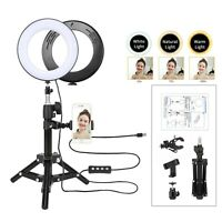 Professional LED Ring Light + Cell Phone Holder for Selfie Photo and live video