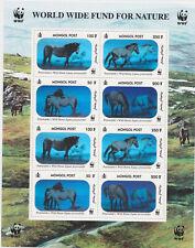 MONGOLIA 2000 Przewalski's Wild Horse WWF sheetlet (8) 2 sets *HOLOGRAM* MNH