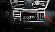 Brushed Center Console CD Panel Sticker Trim For Mercedes Benz E-Class 2014-2015