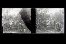 Avion Accident Histoire l'aviation France Plaque Stereo Negatif Vintage ca 1920