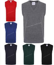 New Pullover Boys, Girls School Uniform V Neck Tank Top ~ KIDS Sleeveless Jumper