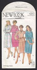 Vintage 6353 New Look Maudella Misses' Dress Pattern Sizes 10-18 1980s UNCUT