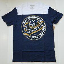 True Religion Men's T-Shirt Dimes Short Sleeve Football Logo Navy White Medium