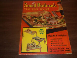 SMALL RAILROADS YOU CAN BUILD - 1954 Kalmbach Publishing -VINTAGE