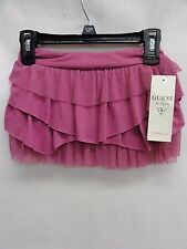GUESS Toddler Girl's Ruffle Mesh Tier Skirt, Violet, 2T