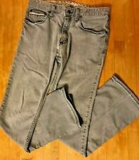 VANS Jeans Mens Size 29x28 Gray Light Wash Slim/Skinny Fit OK4F52V Pants HOLE