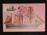 ITALIA MK 1977 SEGELSCHIFF SAILING SHIP MAXIMUMKARTE CARTE MAXIMUM CARD MC c8537