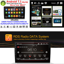 "10.1"" HD Android 7.1 Quad-Core 2 Din  WiFi 3G/4G Car GPS Stereo Radio Player OBD"