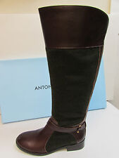 Antonio Melani Size 7 M Brown Leather Knee High Boots New Womens Shoes