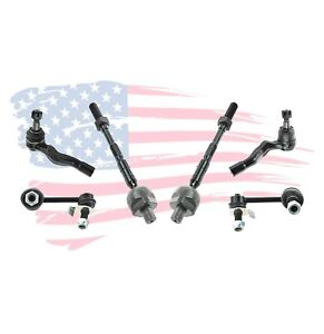6 Pc Suspension Kit For Nissan 350Z 03-09 Infiniti G35 03-07 Tie Rods Sway Bar