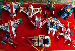Vintage Shogun Warriors - Lot of 10, Dangard Jet, Varitank, Shigcon Tank & More