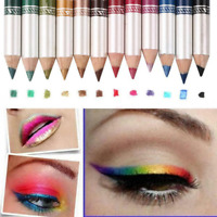12pcs/Set Cosmetic Makeup Heal Glitter Eye Shadow Lip Liner Eyeliner Pencil Pen