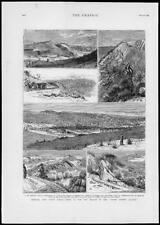 1879-antica stampa Sud Africa North Eastern Railway grahamstown River (224)