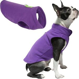 Gooby Dog Fleece Vest - Pullover Dog Jacket with Leash Ring - Winter Small Dog S