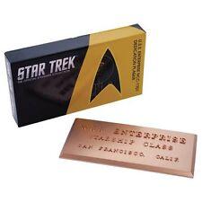 Star Trek Dedication Plaque #1 USS Enterprise NCC-1701 Eaglemoss