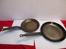 "Cordon Bleu Bia Pan Set Carbon Steel 2pc 8"" & 6.5"" frying saute skillet Vintage"