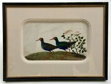 Peinture chinoise ancienne, Gouache sur papier de riz, Oiseaux, XIXe, 2/4