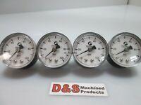 Lot of 4 Precision Gauge 100 PSI