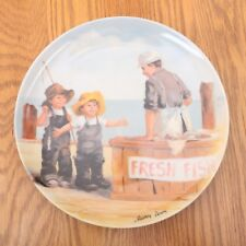 """Knowles Collector Plate Fish Story""""Jeanne Down's Friends I Remember Series"""