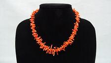 "Vintage Genuine Natural Coral Necklace Choker 15,8"""