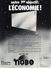 PUBLICITE ADVERTISING 024   1978   NOBE   chauffage éléctrique radiateurs