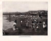 1898 Aufdruck Chicago ~ Marke Weiß Quadratisch Kinder Spielt IN Watende Paddeln