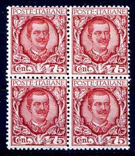 REGNO 1926 - FLOREALE   Centesimi 75  QUARTINA   NUOVO **