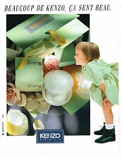 PUBLICITE ADVERTISING 035  1993  KENZO  ça sent bon les parfums
