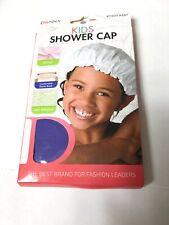 Donna Kids Premium Collection Shower Cap 100% Waterproof White Soft Vinyl New